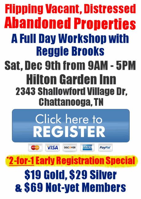 Workshops chattanooga reia please note the 2 for 1 early registration special is only for chattanooga reia members and is limited to spouses adult children and corporate partners malvernweather Choice Image